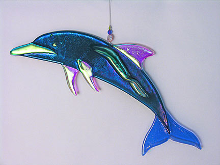 Glass Ornaments Featured Blue Heron Glass Art Hangings Page