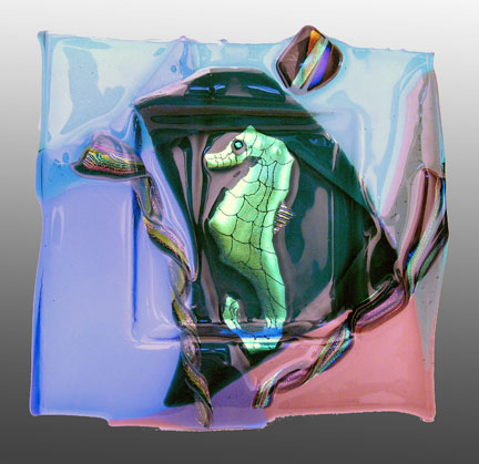 Glass Art Sea Horse