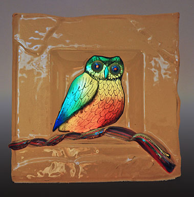 Glass Perching Owl